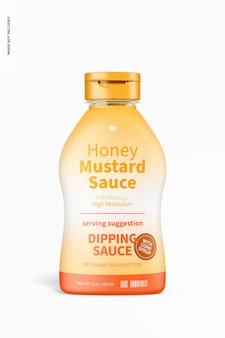 Mockup di bottiglia di salsa di senape al miele da 12 once
