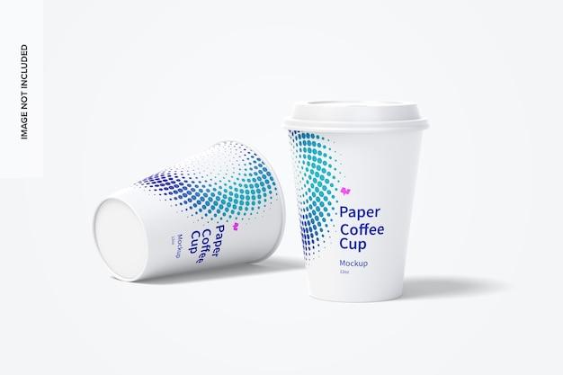 Mockup di tazze da caffè in carta da 12 once