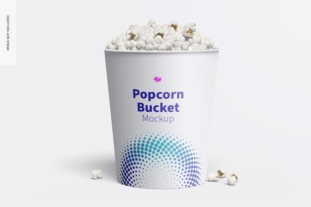 Mockup di secchiello per popcorn da 130 once