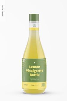 Mockup di bottiglia di vinaigrette al limone da 14,5 once