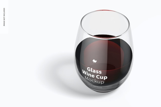 Mockup di tazza di vino in vetro da 15 once