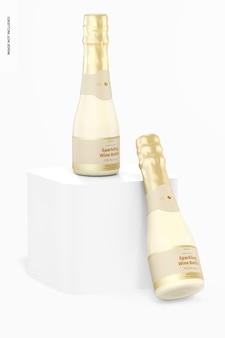 Mockup di bottiglia di spumante da 200 ml