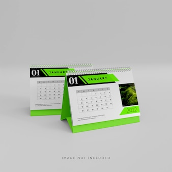 2022 calendario da tavolo 3d mockup design