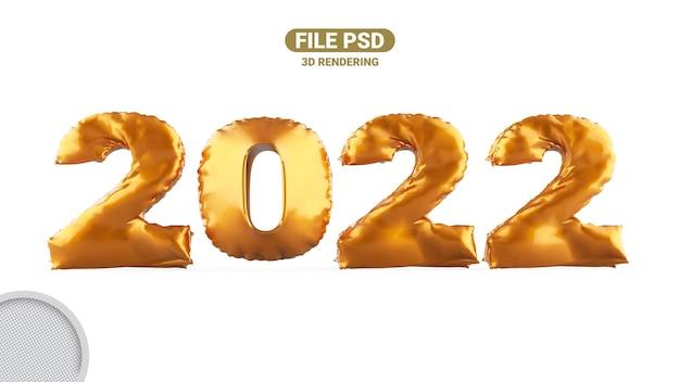 Banner di rendering 3d 2022