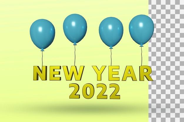 Effetto di testo 3d di felice anno nuovo 2022