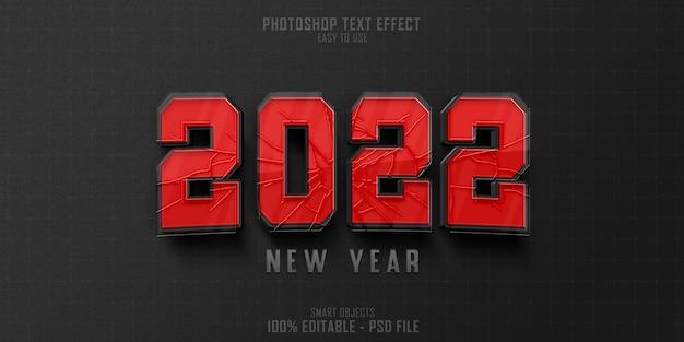 Disegno del modello di effetto stile di testo del nuovo anno 2022