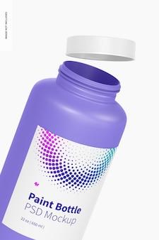 22 oz bottiglia di vernice mockup, da vicino