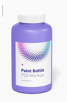 Mockup di bottiglia di vernice da 22 once