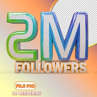 2m follower