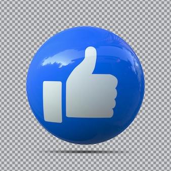 3 emoji mi piace da facebook