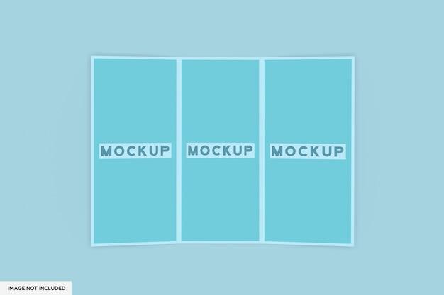 Mockup di brochure a 3 pieghe isolato