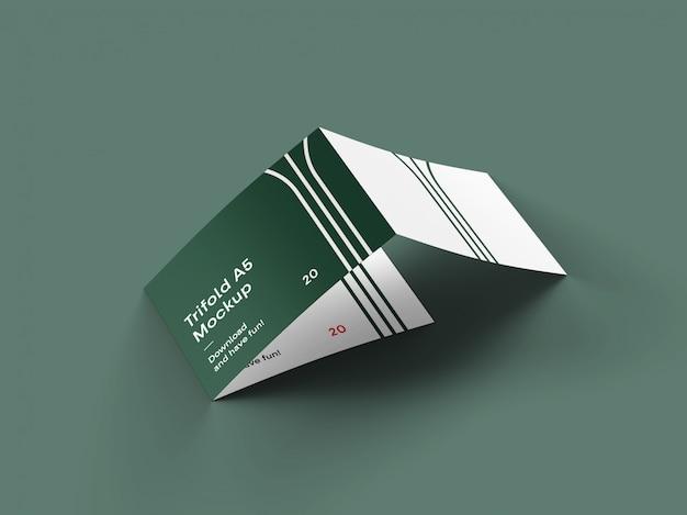 Mockup di brochure pieghevole a 3 paesaggi