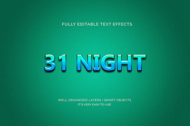 Effetto di testo di 31 notti