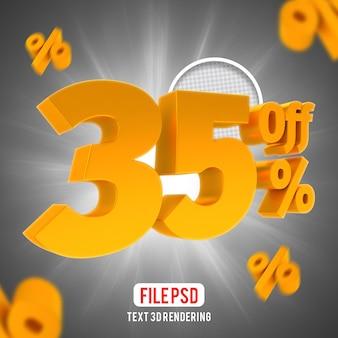 35 percento di sconto sulla composizione creativa di golden