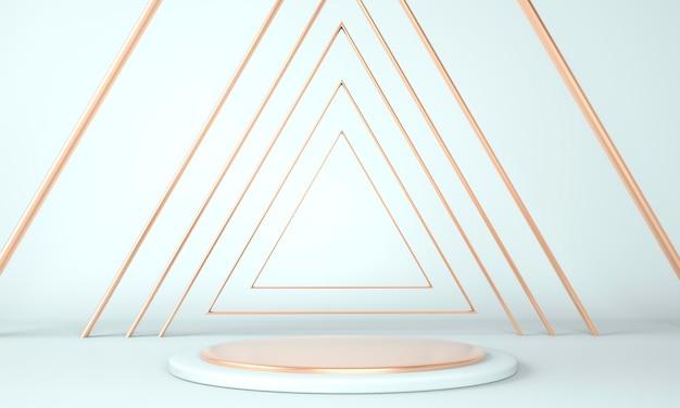 3d sfondo astratto, mock up podio di forma geometria scena per la visualizzazione del prodotto, illustrazione 3d
