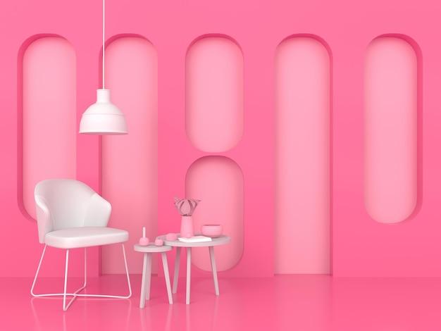 Concetto pastello di forma geometrica astratta 3d