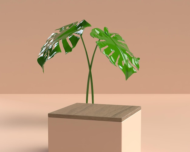 Podio di forma della geometria della scena astratta 3d per la visualizzazione del prodotto