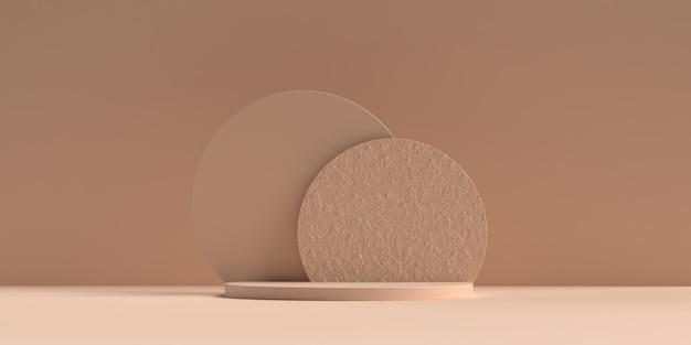 Podio della forma della geometria della scena astratta 3d