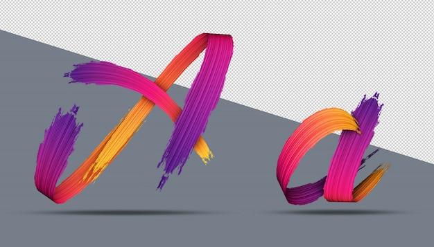 Stile di pittura ad olio di calligrafia di alfabeto 3d