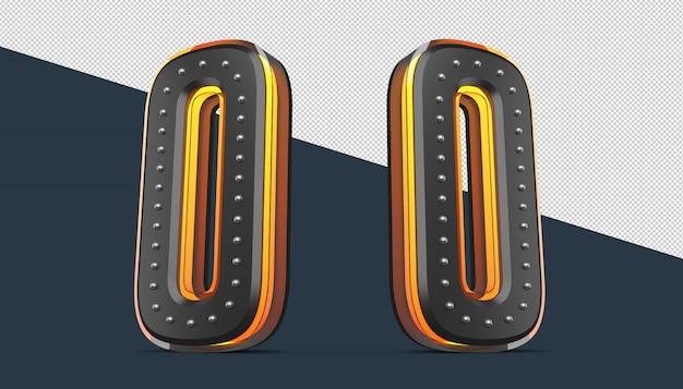 Alfabeto 3d con decorazione a spilla ed effetto luce al neon
