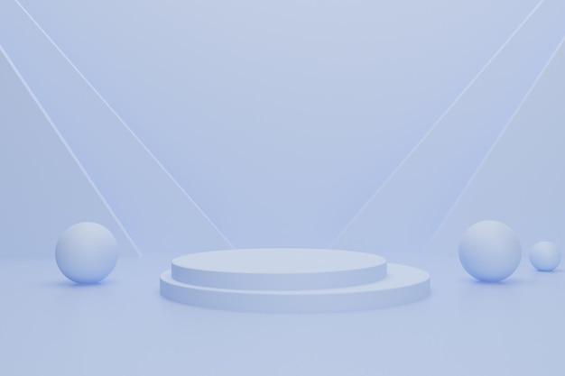 Visualizzazione del prodotto di sfondo 3d