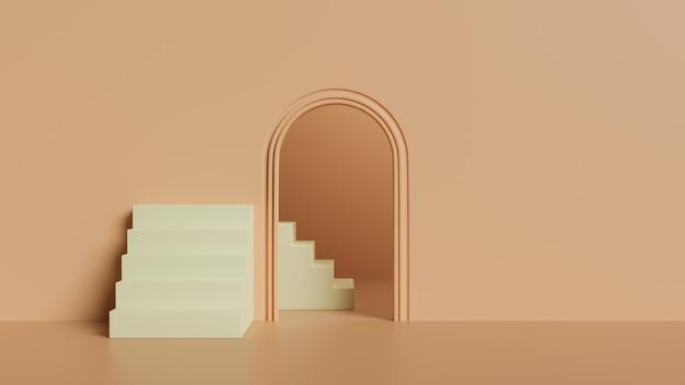Scala e porta del fondo 3d