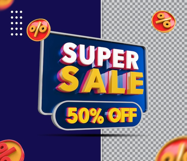 Super vendita di baner 3d con 50 di sconto