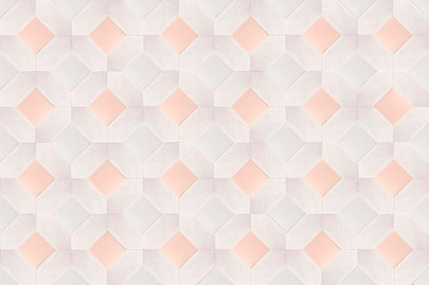 Sfondo 3d con motivo a rombi quadrati beige