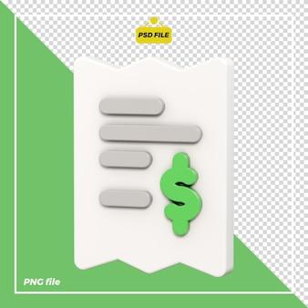 Progettazione di banconote 3d