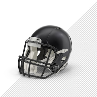 Casco nero di football americano 3d isolato