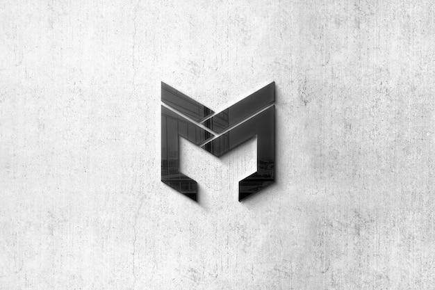 Mockup di logo nero 3d