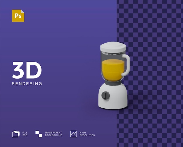 Illustrazione del frullatore 3d