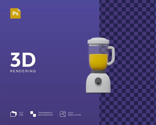 Illustrazione del frullatore 3d Psd Premium