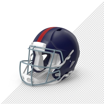 Casco blu di football americano 3d isolato
