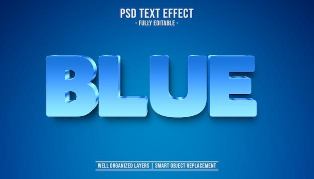 Effetto di testo blu 3d
