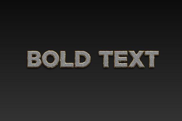 Effetto di testo in grassetto 3d