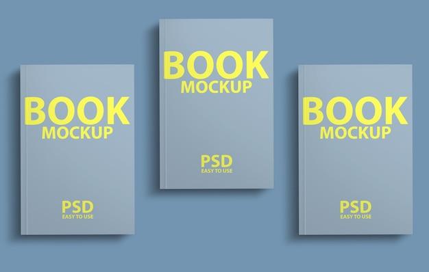 Progettazione di mockup di copertina di libro 3d
