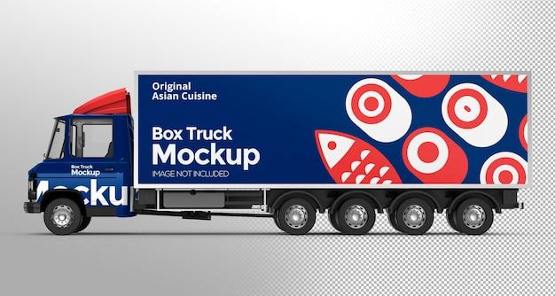 Progettazione di mockup di camion 3d box
