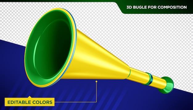 Tromba 3d per composizione