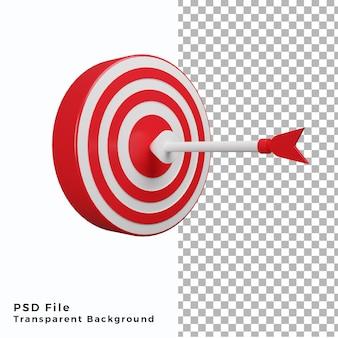 3d bullseye illustrazione icona una freccia di alta qualità