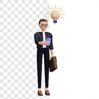 Illustrazione 3d dell'idea imprenditoriale