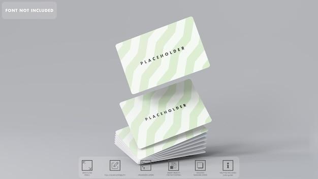 Mockup di angoli arrotondati di carta da affari 3d