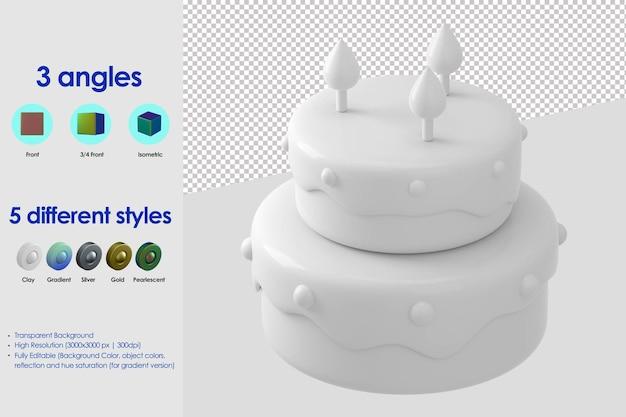 Icona della torta 3d