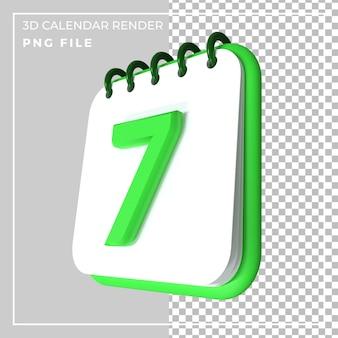 Calendario 3d 7 giorni