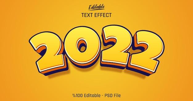 Effetto di testo modificabile 3d cartoon 2022