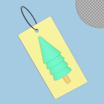 Progettazione della rappresentazione della cartolina di natale 3d isolata