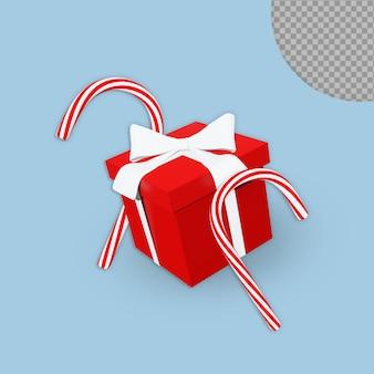 Confezione regalo natalizia 3d con decorazioni