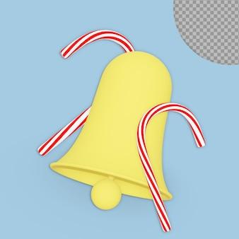 3d natale jingle bell rendering design isolato