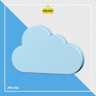 Disegno dell'icona nuvola 3d