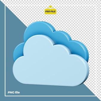 Disegno dell'icona 3d nuvoloso